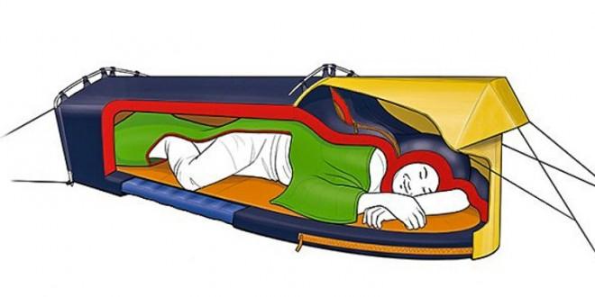 Gezginlere Müjde: Artık çadır, mat ve uyku tulumu hepsi bir arada