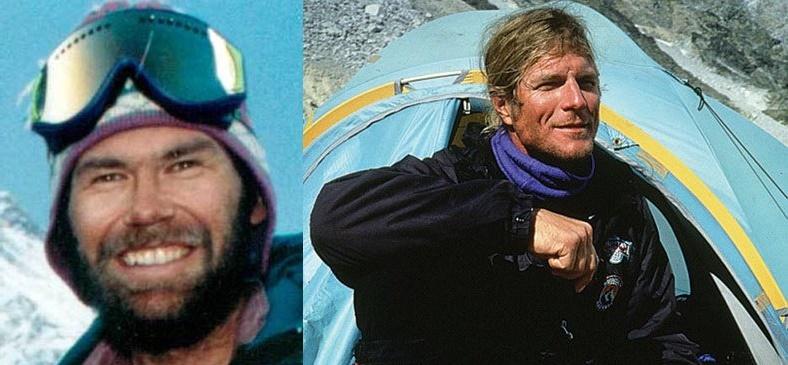 Solda: Rob Hall Sağda: Scott Fisher
