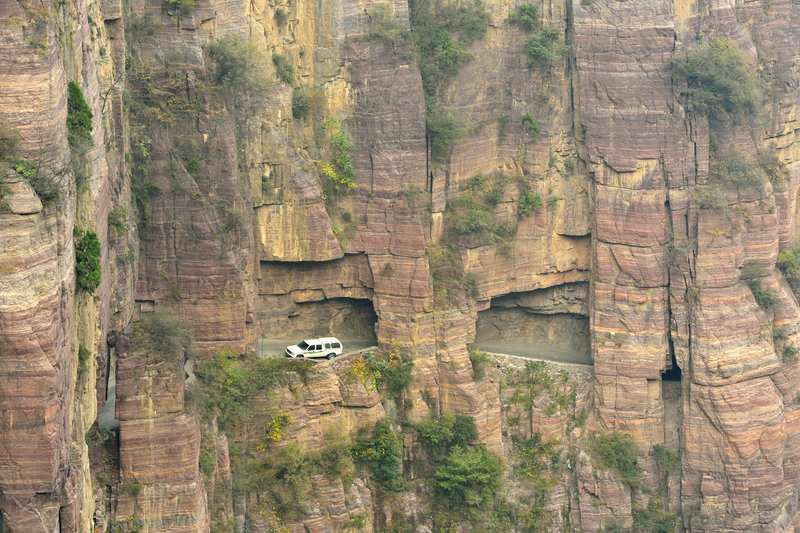 Road built on the cliff