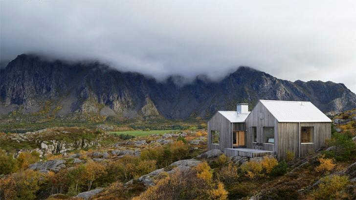 norveç dağ evi doğa kulübe