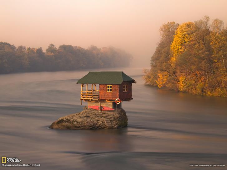 sırbistan drina nehri kulübe