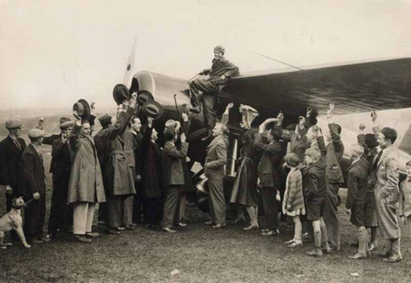 Amelia Earhart was the first woman to fly solo across the Atlantic.